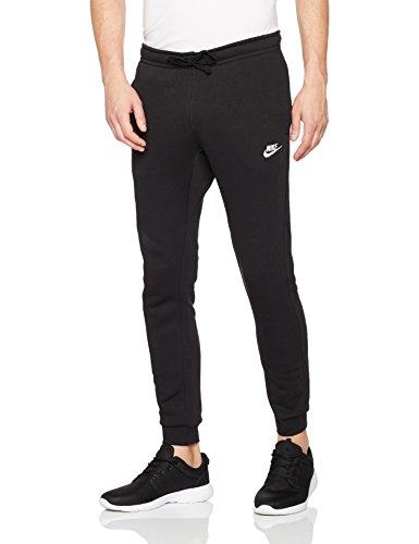 Nike Herren Jogger Fleece Club Trainingshose, BlackWhite, L