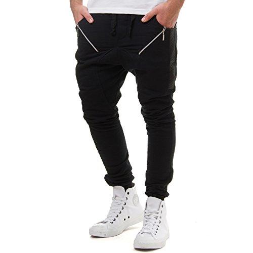 eightyfive herren jogginghose sweatpants zipper gesteppt. Black Bedroom Furniture Sets. Home Design Ideas